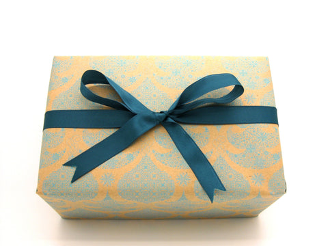Recycled Xmas Gift Wrap Turquoise-Christmas Wrapping Paper