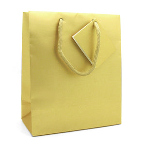 Cord Handled Gold Shopper-Gift Bag Gold