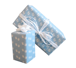 Baby Boy Gift Wrap-Pastel Blue Baby Wrapping Paper-Trade