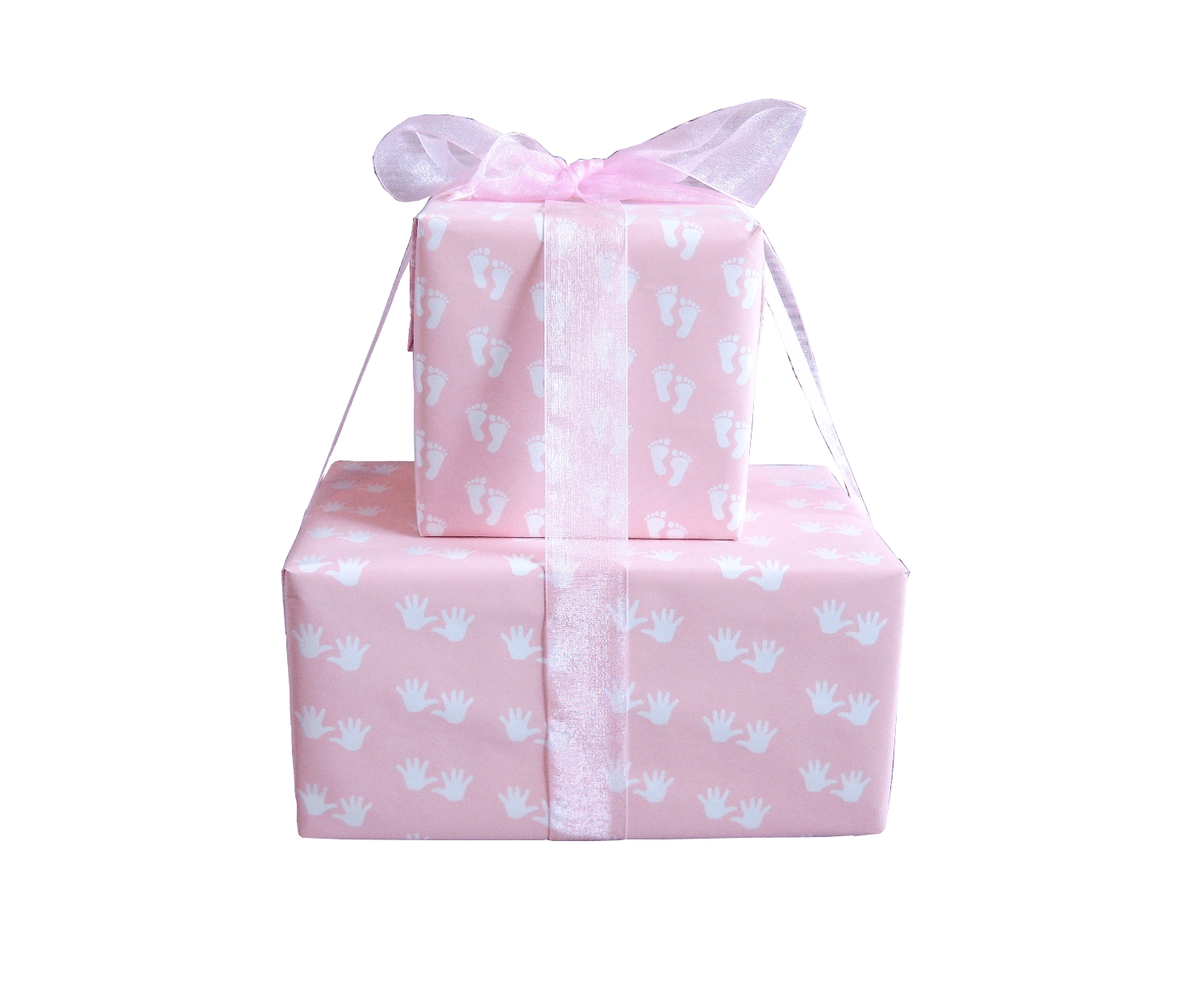 Baby Girl Wrapping Paper-Pastel Pink Baby Gift Wrap-Trade