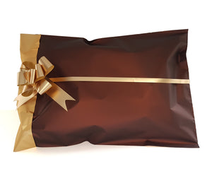 Rich Brown and Gold Large Gift Bags - Hallons