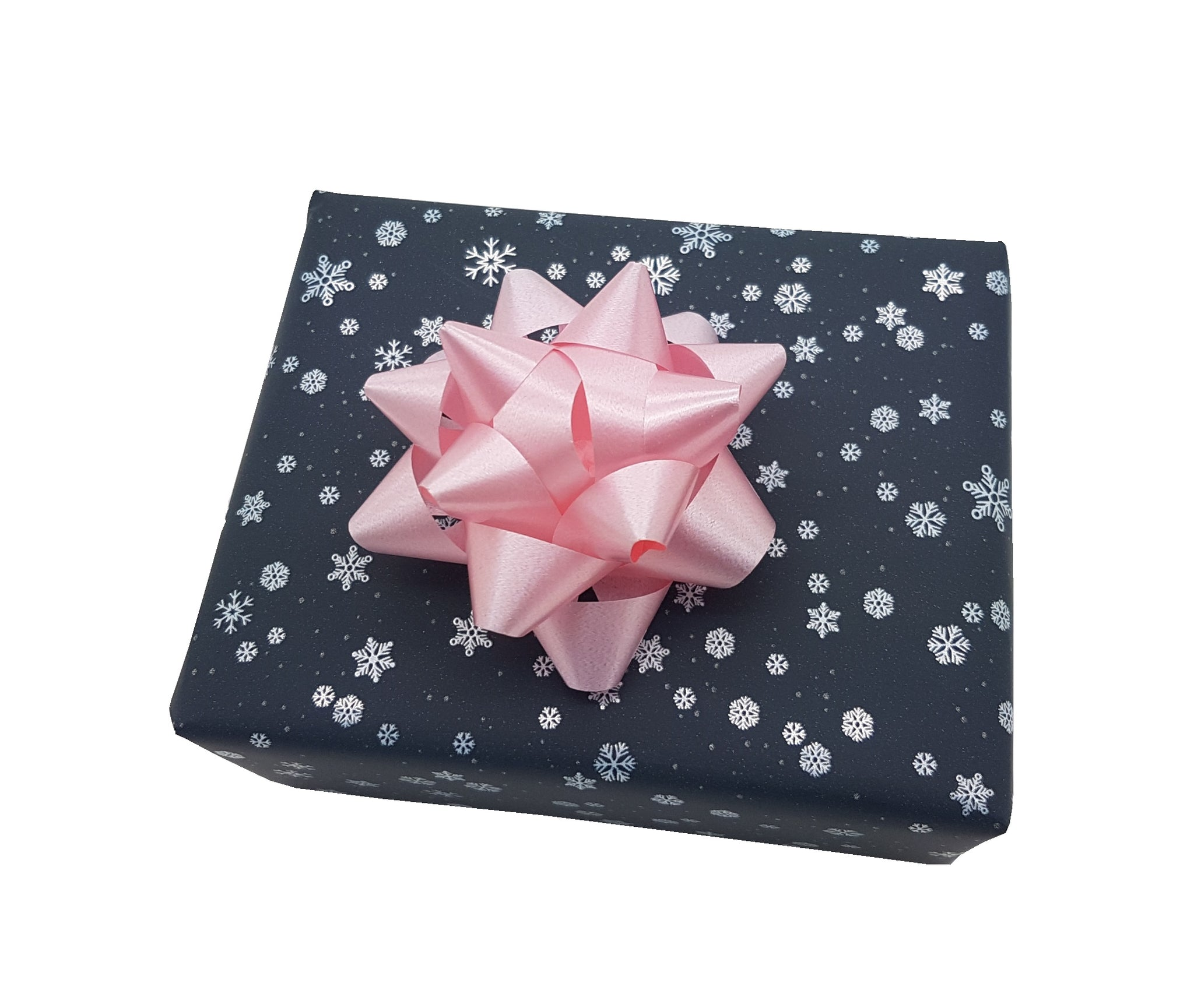 Dainty Snowflake Dark Grey and White Gift Wrap Roll