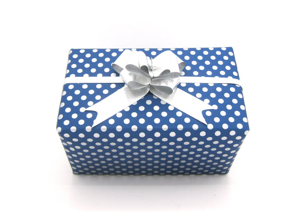 Royal Blue Counter Roll Wrapping Paper Reversible