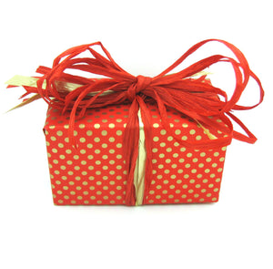 Polka Dot Christmas Gift Wrap-Reversible Xmas Wrapping Paper