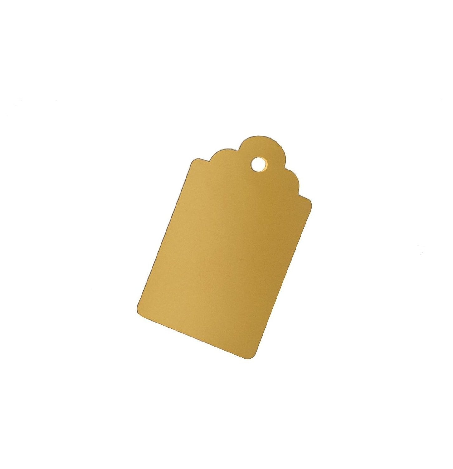 Metallic Gold Gift Tags-Single-sided Gold Gift Tags