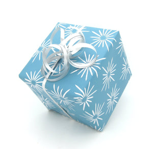 Aqua Luxury Gift Wrap - Retro Design Wrapping Paper