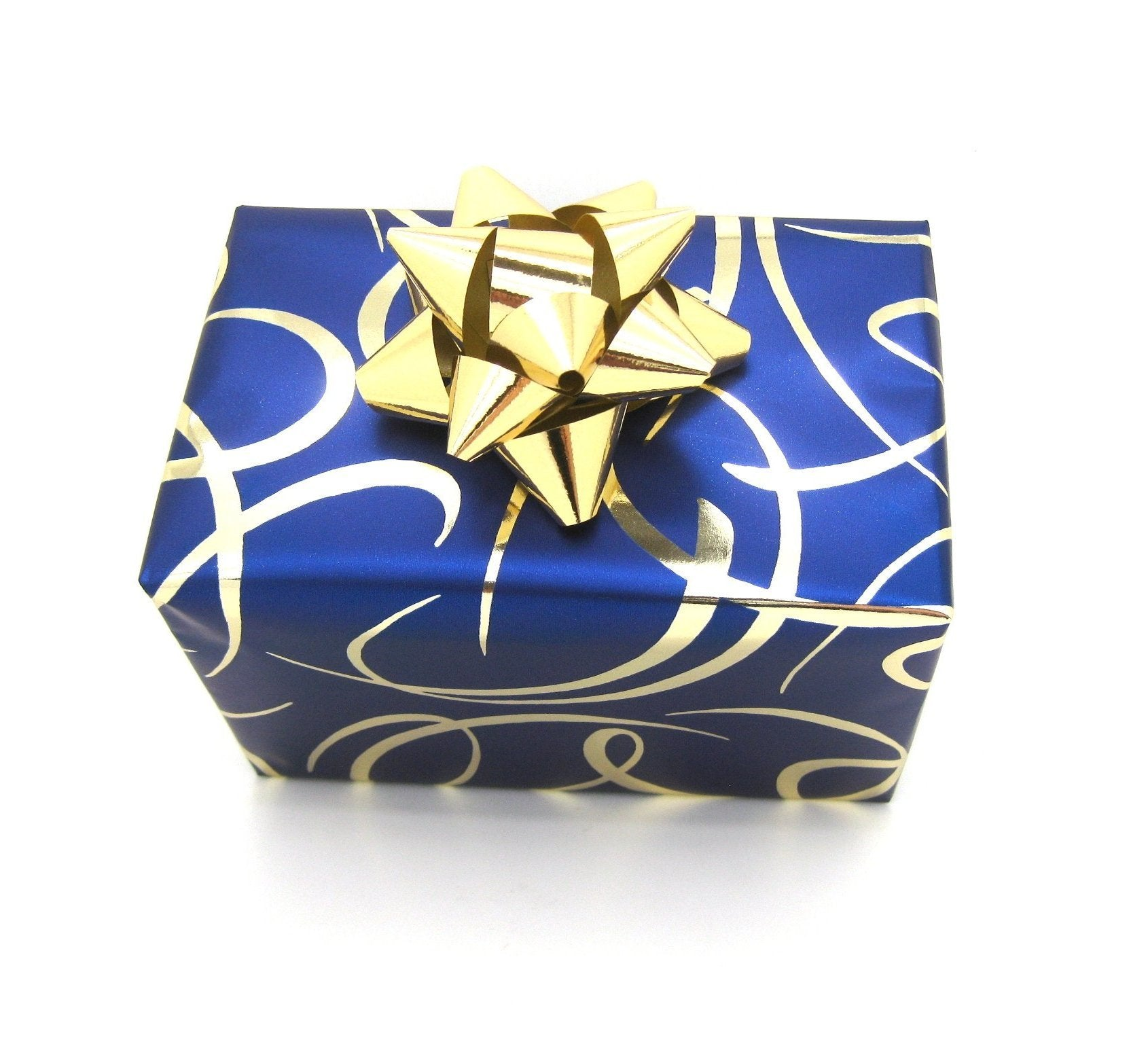Metallic Royal Bue Wrapping Paper-Trade Roll Blue Gift Wrap