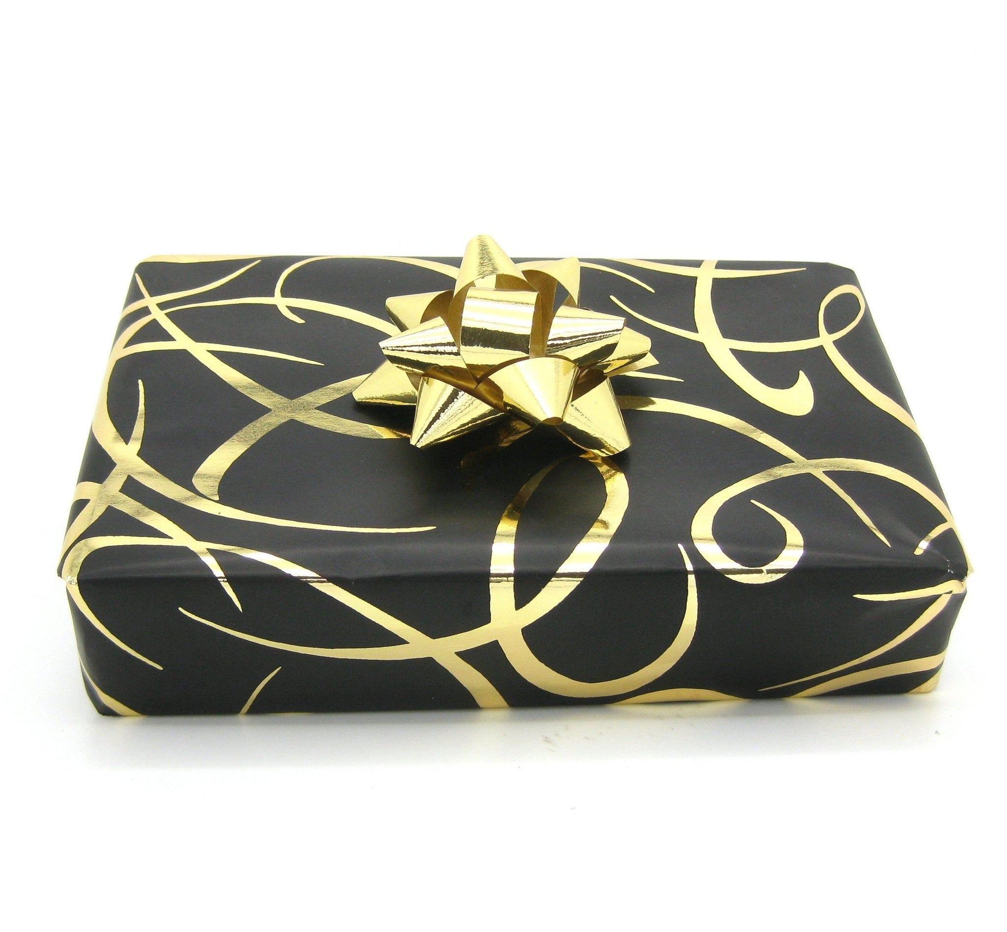 Black Ribbon Design Wrapping Paper-Black Trade Gift Wrap