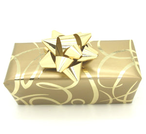 Gold Ribbon Wrapping Paper-Gold Trade Gift Wrap