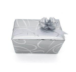 Silver Ribbon Design Gift Wrap-Trade Silver Wrapping Paper