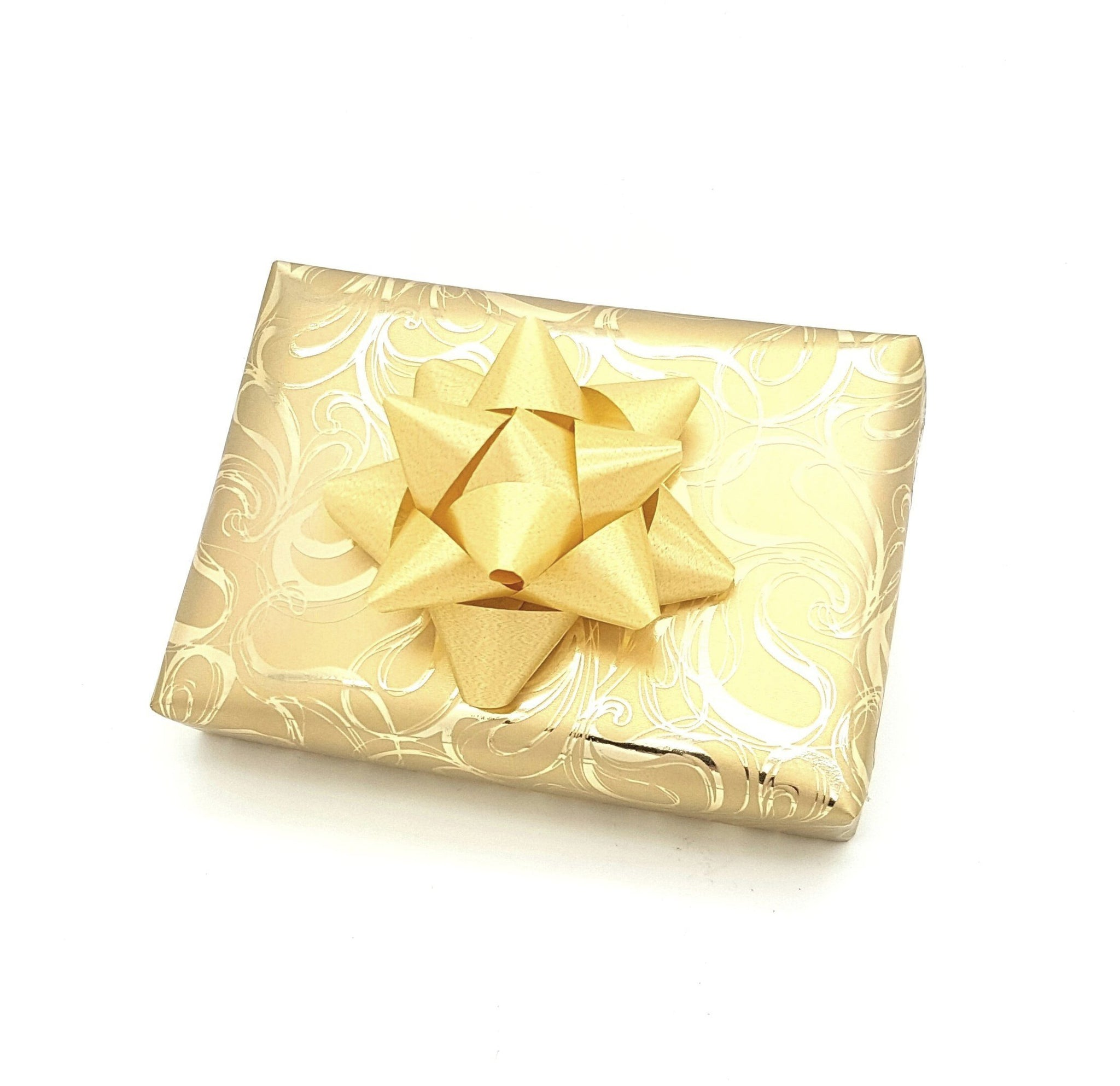 Gold Small Swirl Wrapping Paper-Gold Trade Gift Wrap