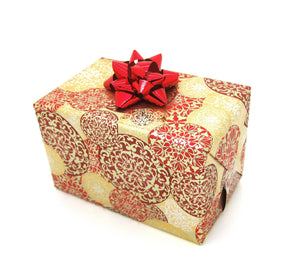 Red and Gold Xmas Wrapping Paper-Red Trade Xmas Gift Wrap