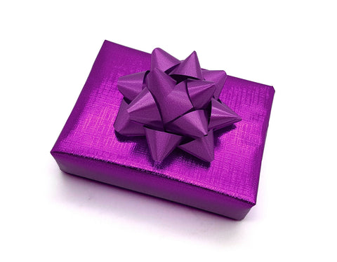 Gift Wrap Metallic Purple - Hallons