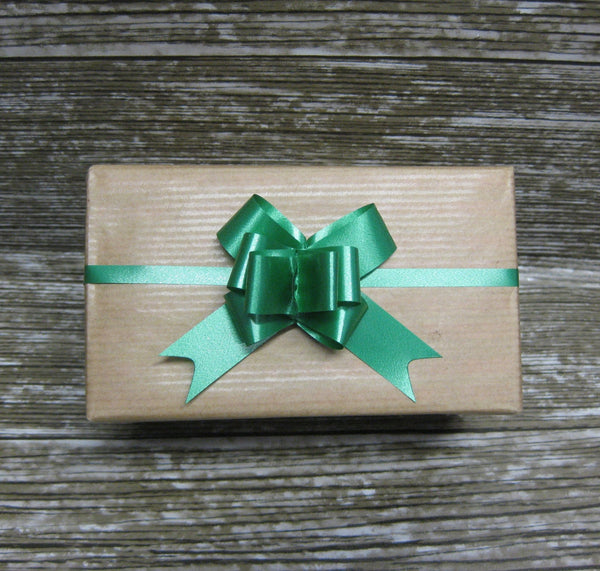 Green Pull Bows - Pack of 50