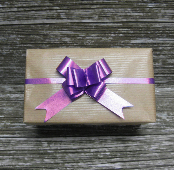 Small Purple Pull Bow-Purple Bow-Purple Ribbon