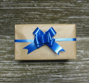 Blue Pull Bows - Pack of 50 - Hallons