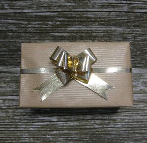 Small Shiny Gold Pull Bows-Small Gold Bows