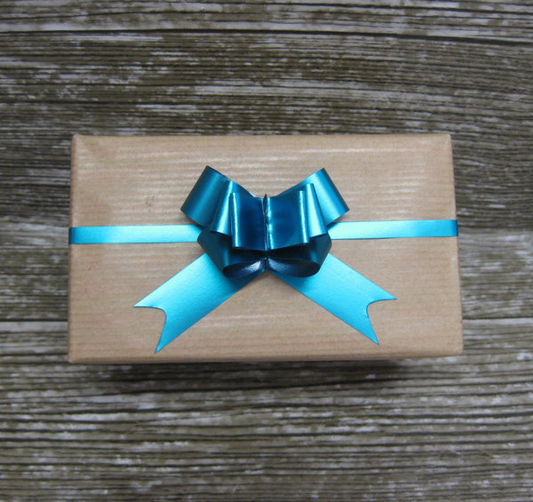 Turquoise Pull Bows - Pack of 50 - Hallons
