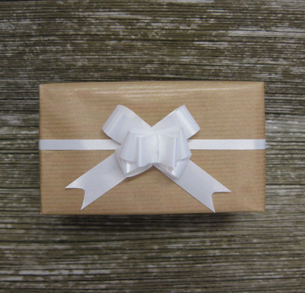 Small White Pull Bows-Small White Xmas Bows