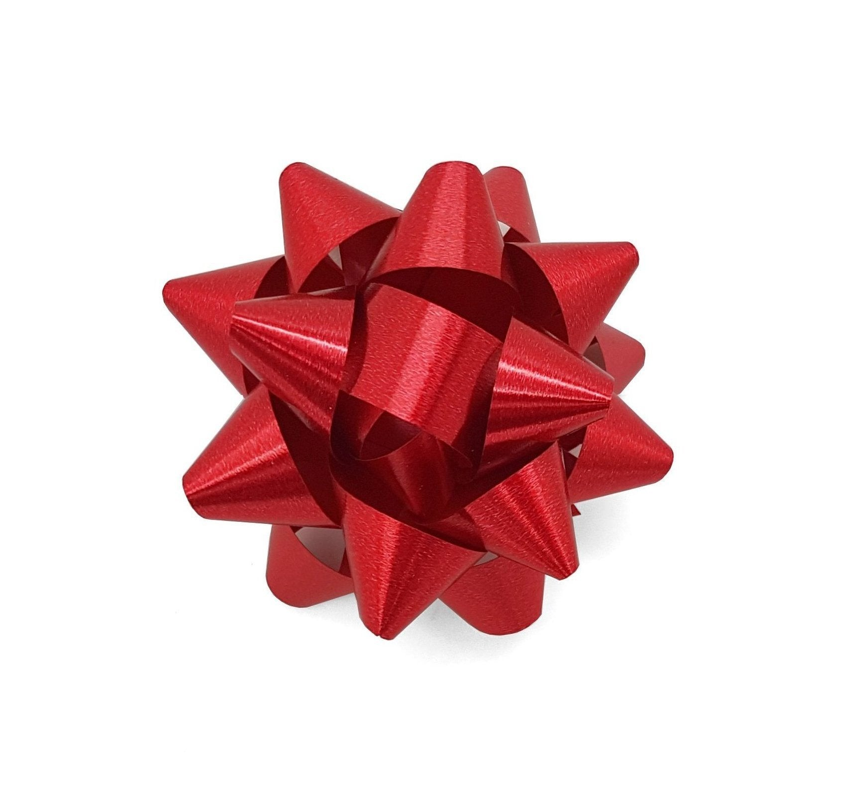 Matte Metallic Red Star Bow-Deep Red Gift Bow