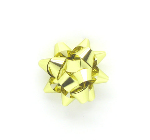 Tiny Gold Self-adhesive Bows-Mini Star Bows Gold