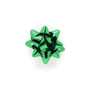 Shiny Green Mini Star Bow-Tiny Green Xmas Bows