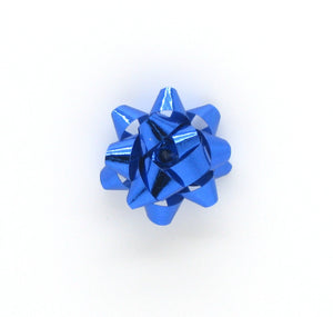 Shiny Royal Blue Mini Star Bows-Tiny Blue Star Bows