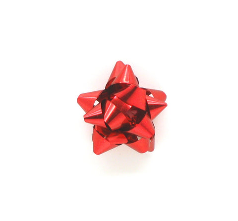 Mini Red Star Bows-Tiny Star Bows-Small Red Xmas Bows