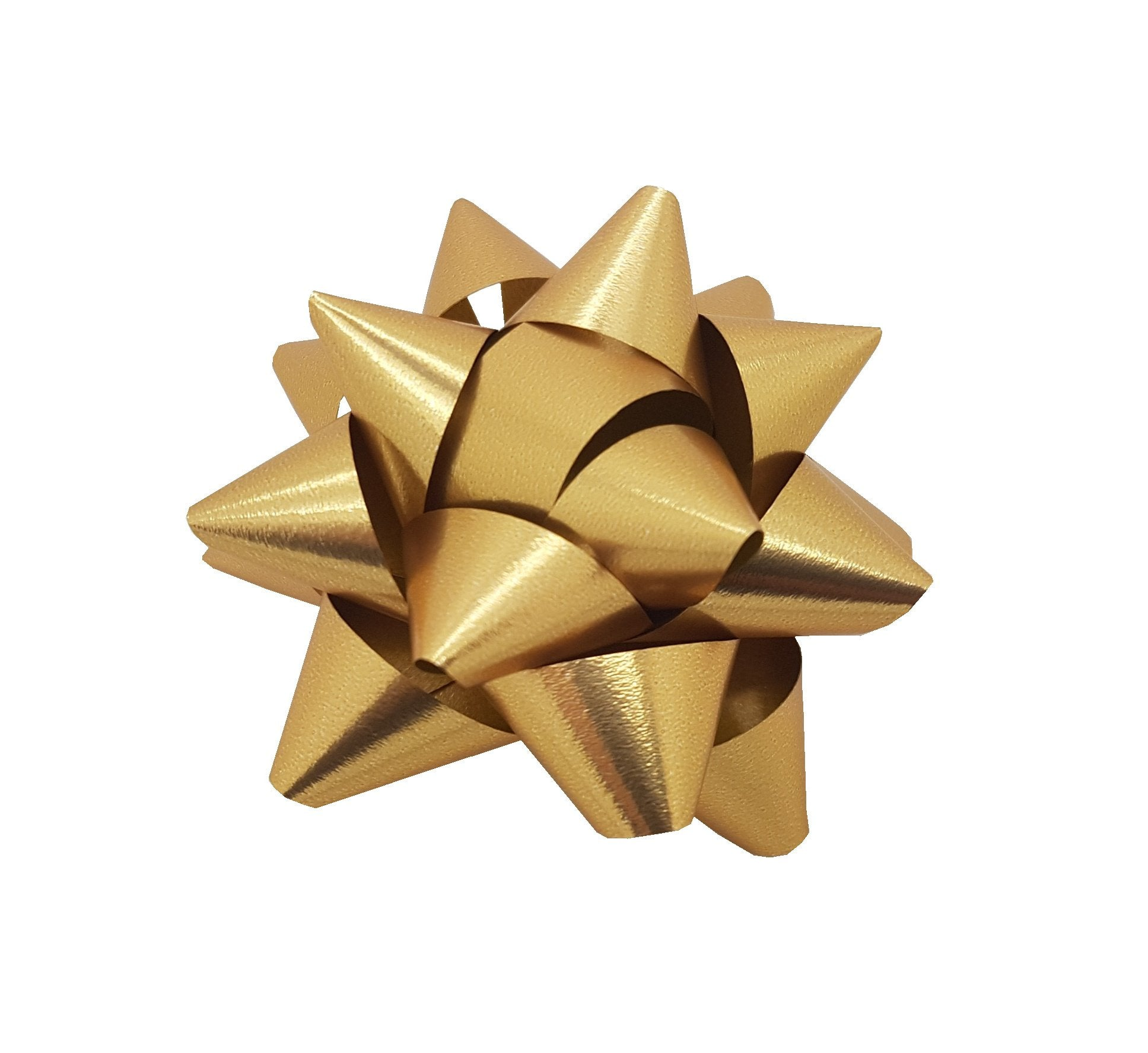 Metallic Gold Self-adhesive Star Bow