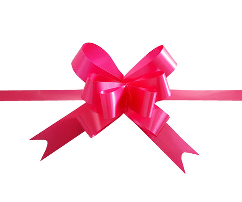Cerise Gift Bow-Dark Pink Pull Bow