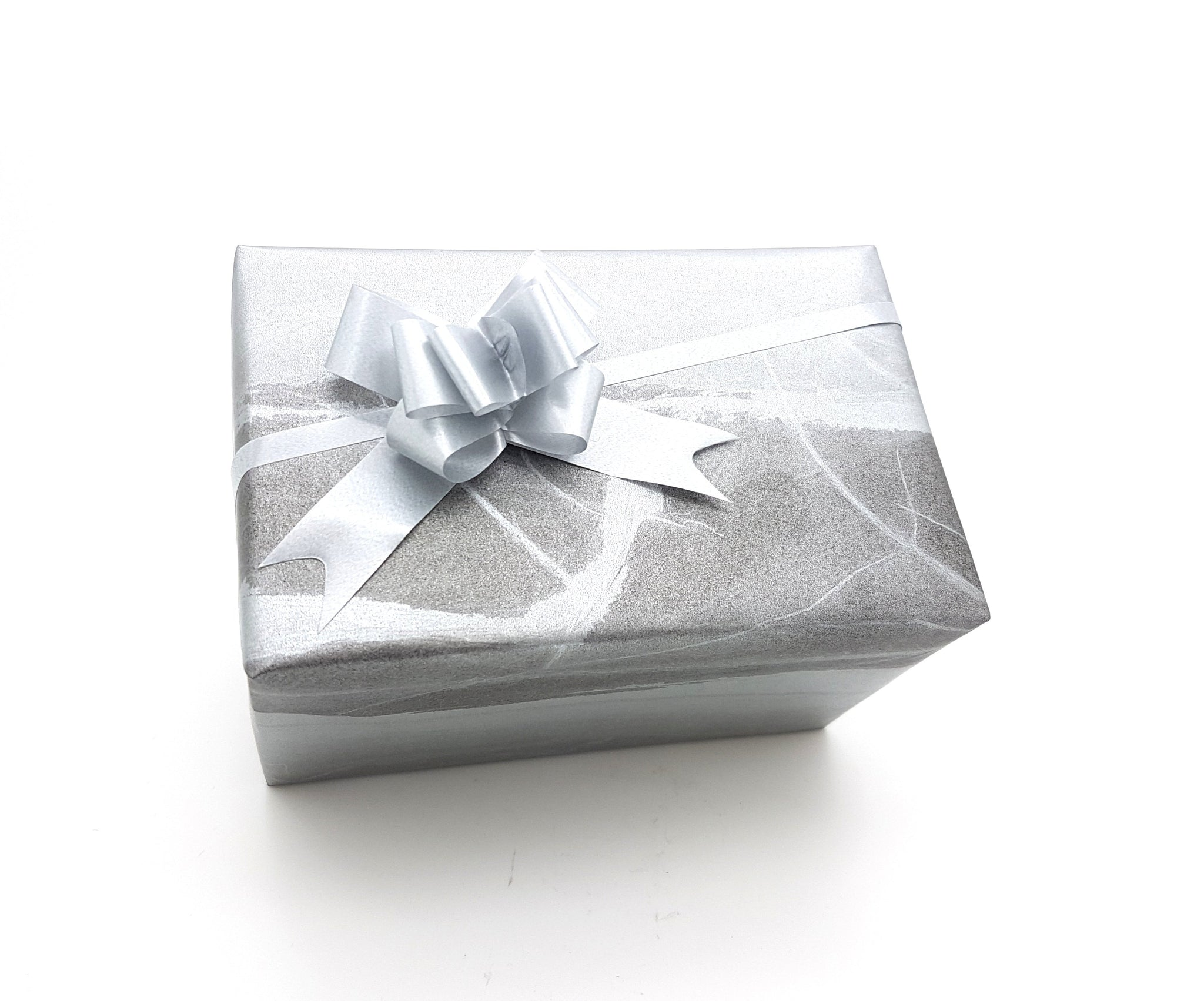 Silver Grey Marble Gift Wrap-Matte Silver Wrapping Paper
