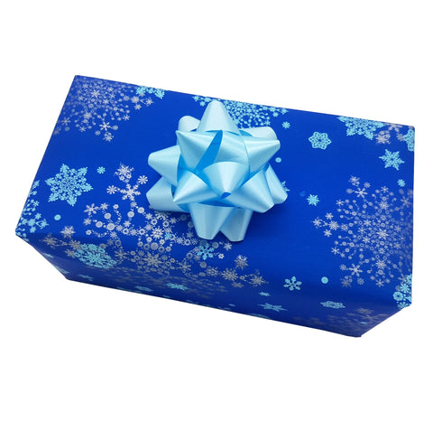 Royal Blue Xmas Wrapping Paper-Counter Roll Christmas Paper