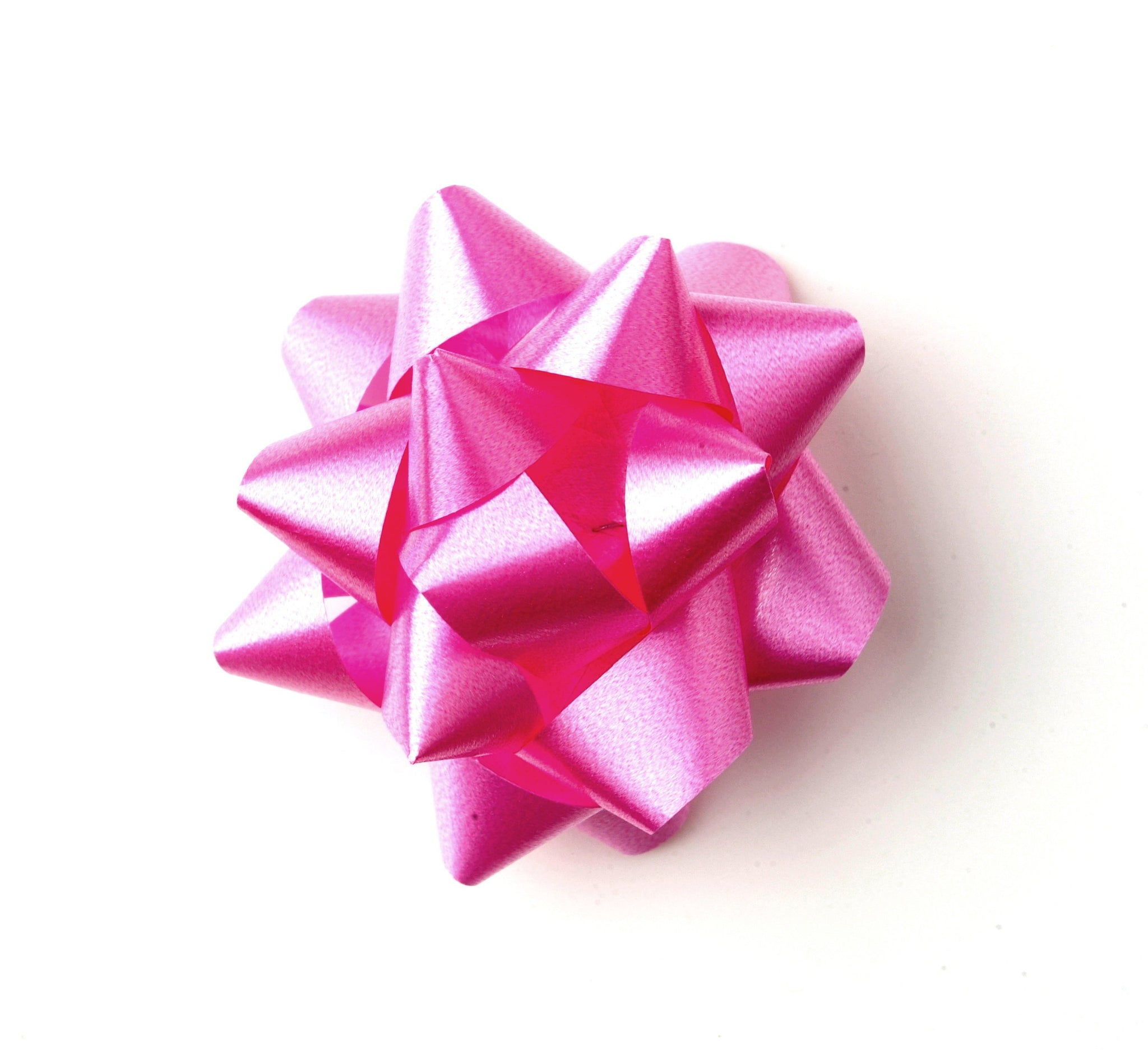 Cerise Pink Star Bow-Pink Self-adhesive Bow