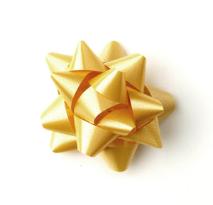 Pastel Gold Star Bows-Antique Gold Self-adhesive Bows