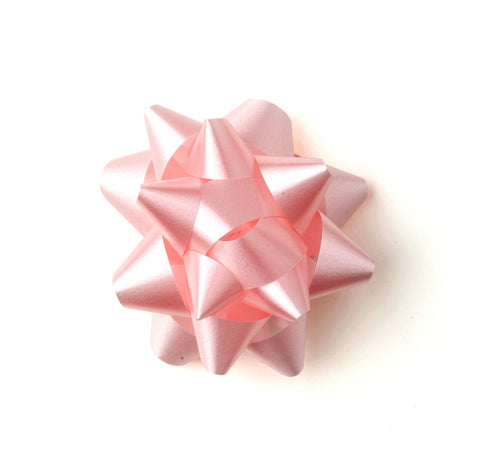 Pastel Pink Star Bow-Pretty Pink Bow-Self-adhesive Pink Bow