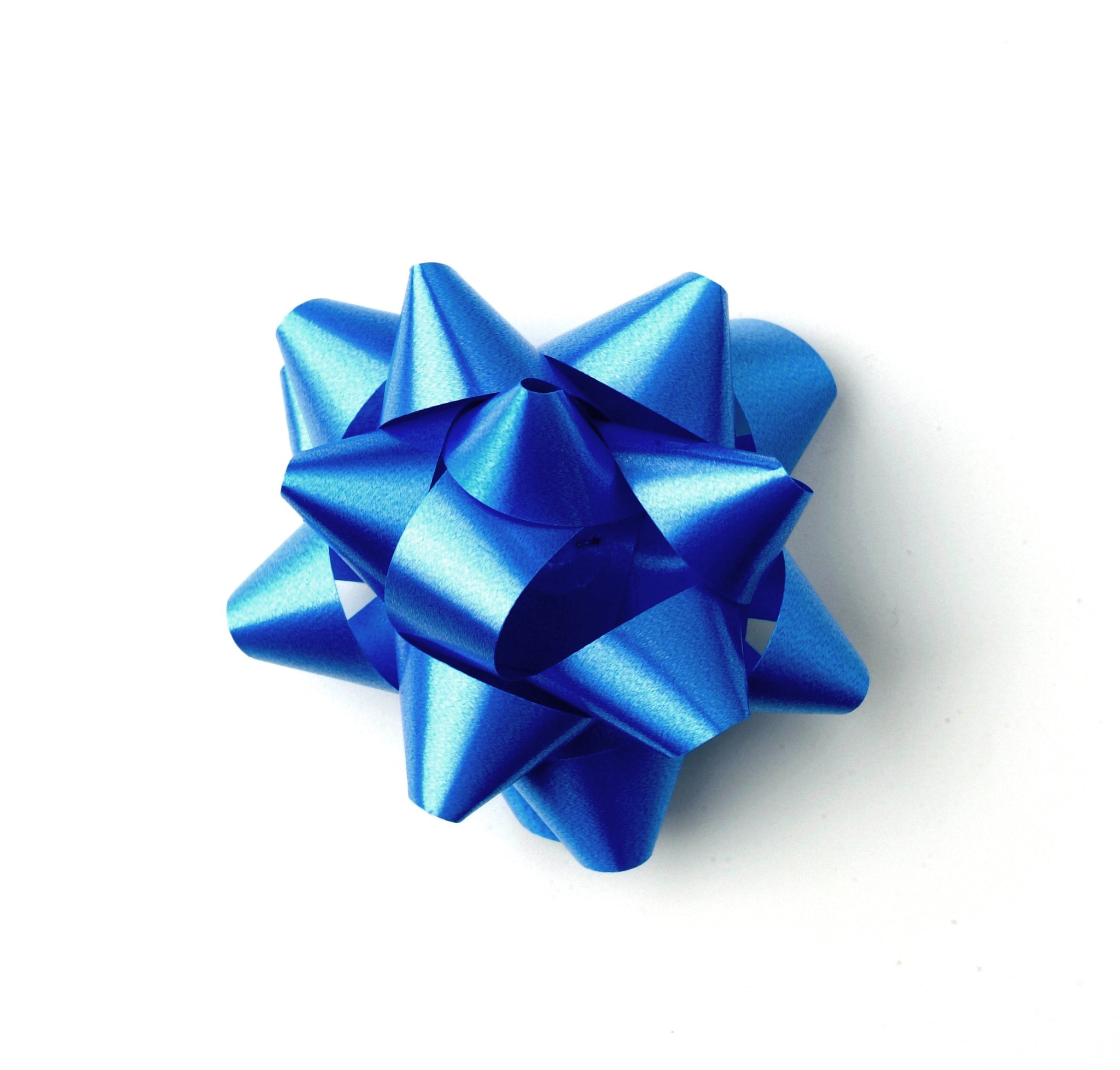 Royal Blue Star Bow-Blue Self-adhesive Bow