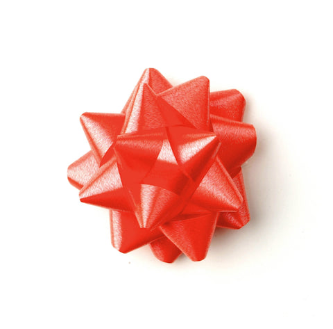 Red Star Bows-Red Self-adhesive Bows-Xmas Bows