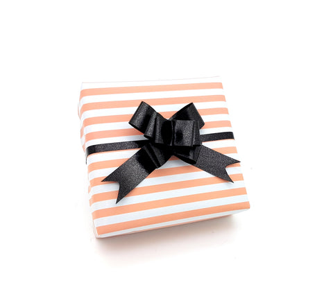 Peach and White Stripe Gift Wrap-Pastel Wrapping paper