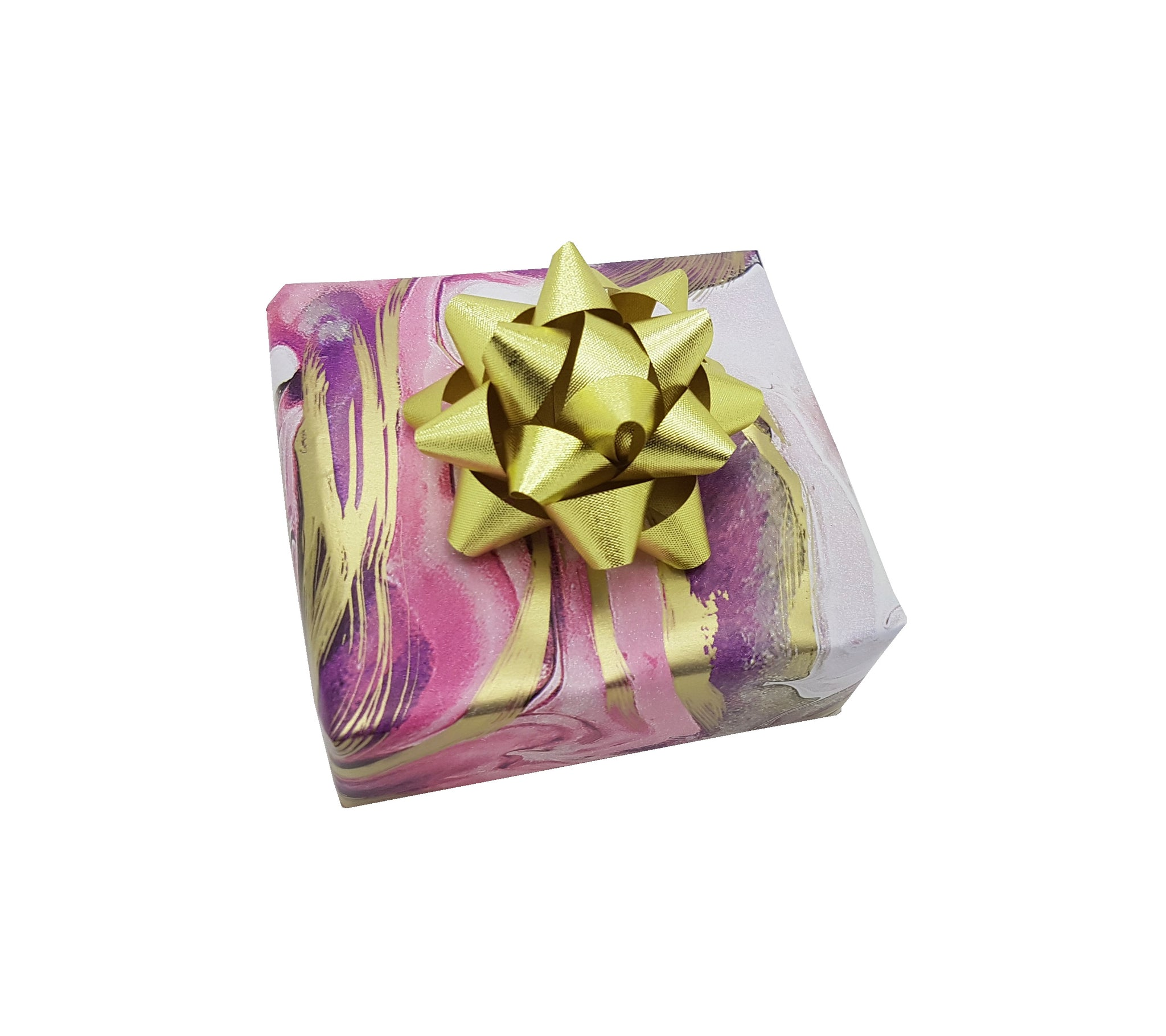Cute Pink and Gold Marbled Gift Wrap Sheets