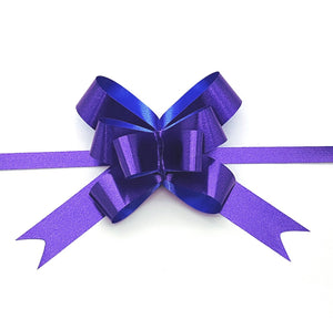 Blue Metallic Finish Pull Bow