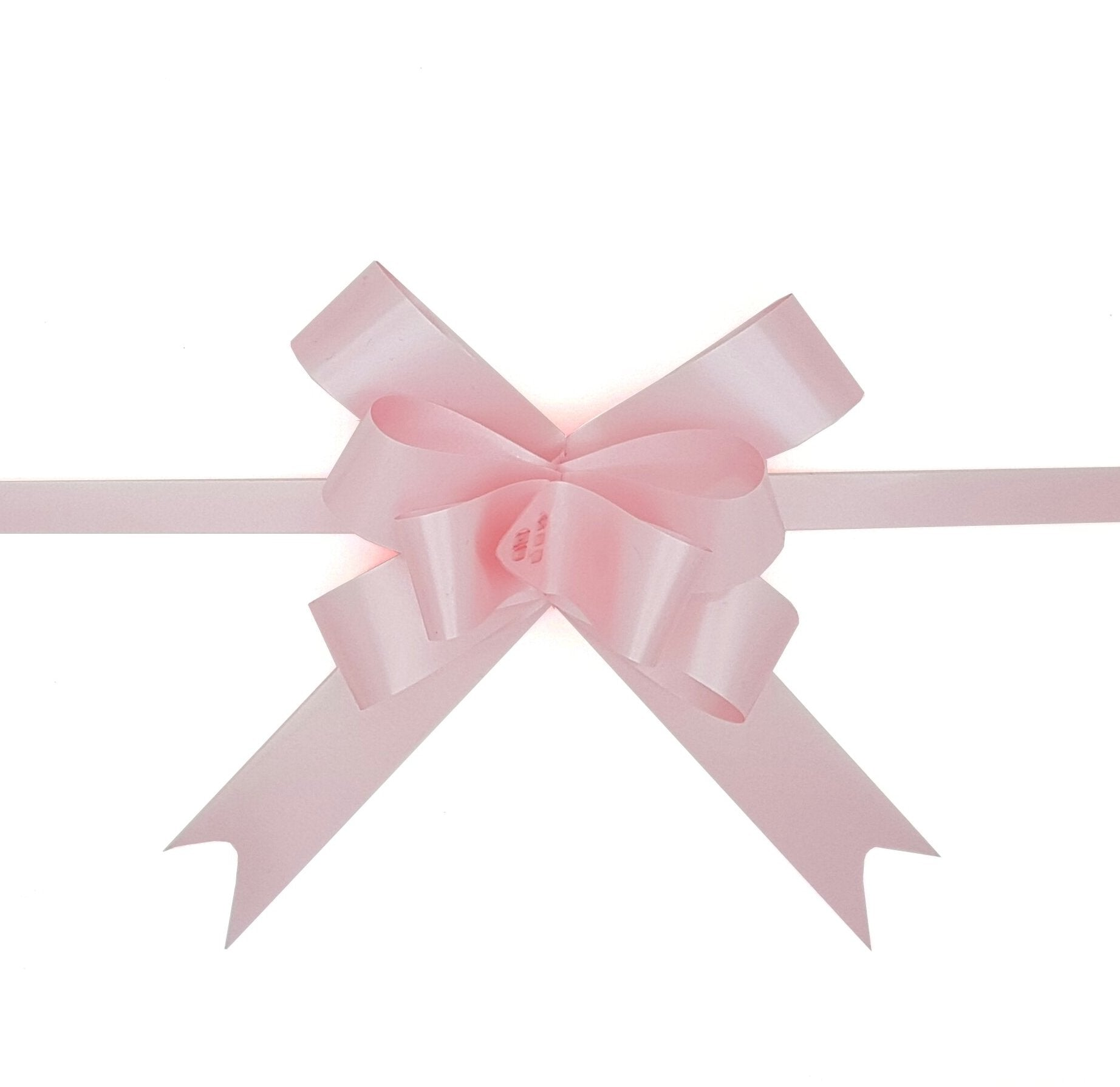 Pastel Pink Pull Bow-Pale Pink Gift Bow-Baby Pink Bow