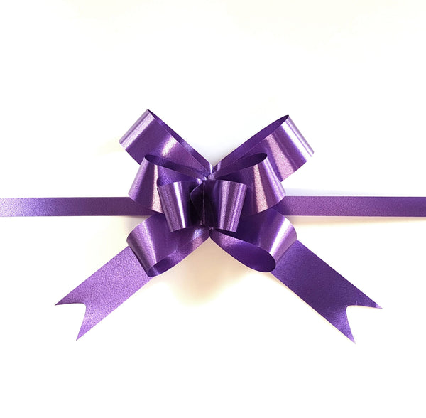 Purple Pull Bow-Purple Bow-Purple Ribbon