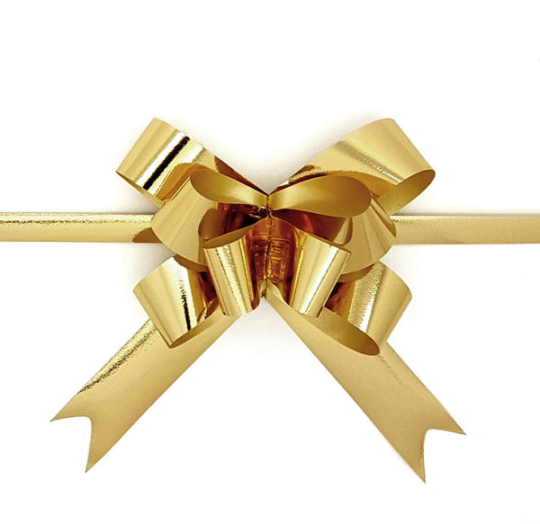 Shiny Gold Pull Bows-Gold Pull-up Bows