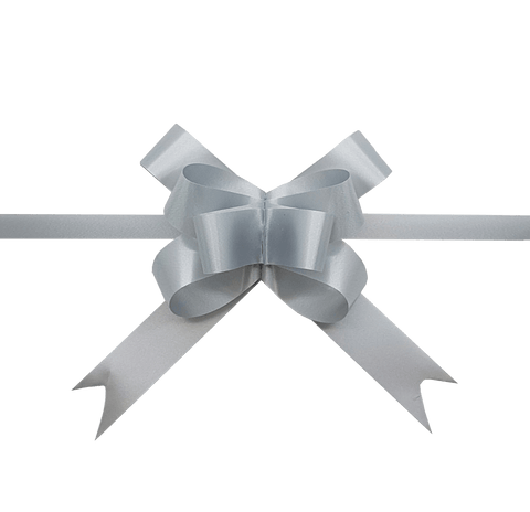 Pastel Silver Pull Bows-Pale Grey Pull Bows