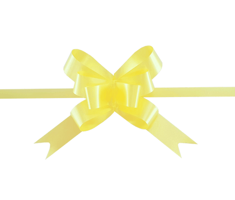 Yellow Gift Bows-Yellow Pull Bows for Hampers