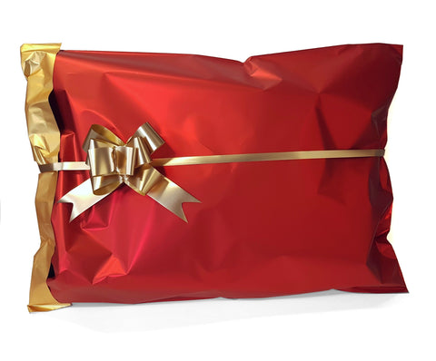 Large Red Xmas Gift Bag-Matte Metallic Red Gift Bag