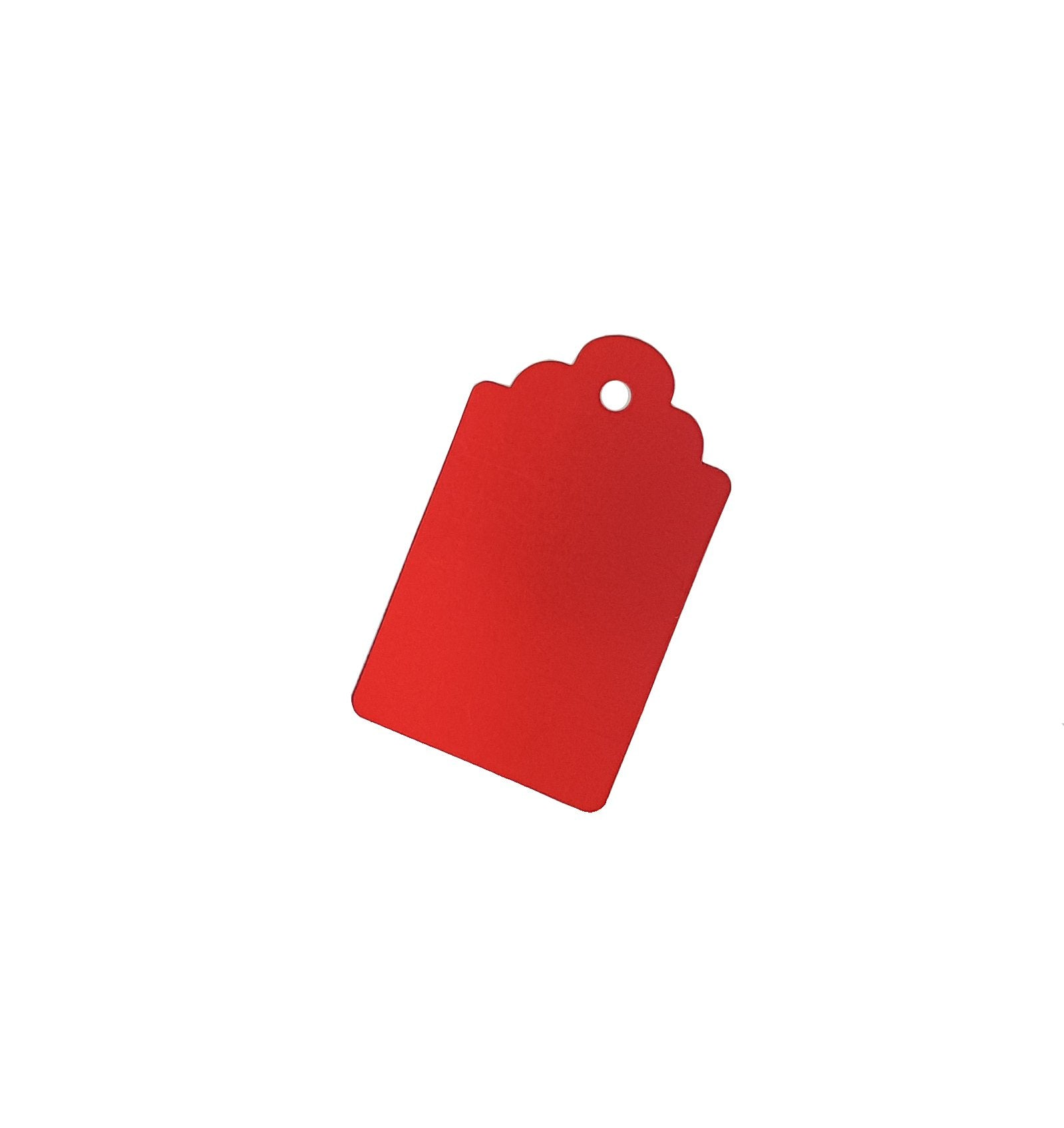 Metallic Red Xmas Gift Tags-Single-sided Red Gift Tags