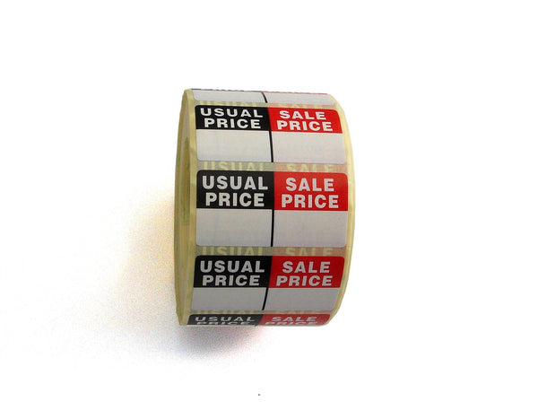 Usual Price/Sale Price Labels Large-POS Sticky Labels