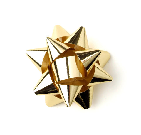 Shiny Gold Star Bows-Shiny Gold Bows