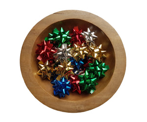 Multicolour Shiny Mix Star Bows-Self-adhesive Gift Bows